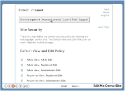 EditMe Access Control Options